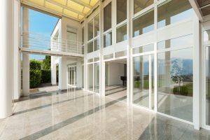 Prosklené fasády - mytí vč. rámů