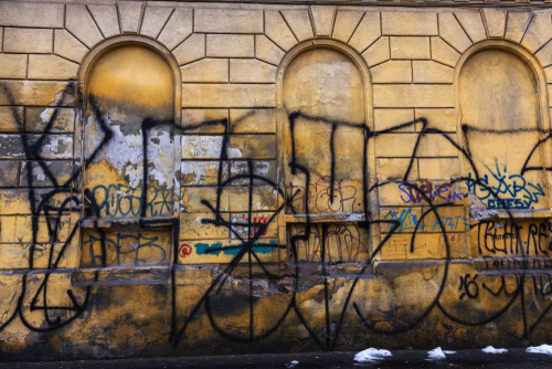 Čištění Brno, spreje a graffiti